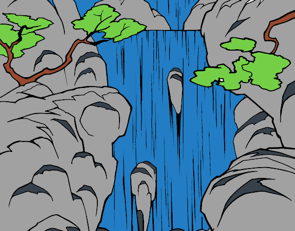 Dibujo Cascada pintado por Juice