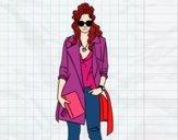 Dibujo Chica con gabardina pintado por sheyla13