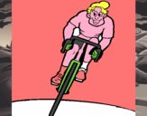 Ciclista con gorra
