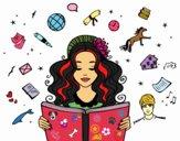 Dibujo Día del Libro pintado por ceninsa