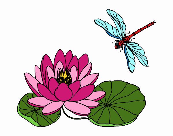 Dibujo Flor de loto pintado por Juice