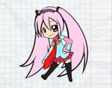 Dibujo Hatsune Vocaloid pintado por sheyla13