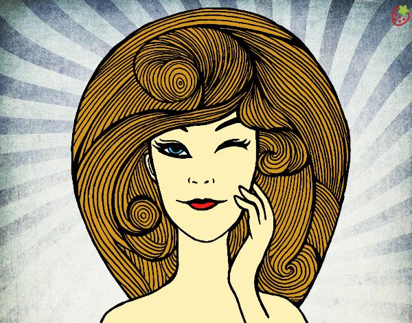 Dibujo Peinado con volumen pintado por Michellinh