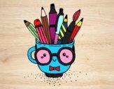 Dibujo Taza animada con lápices pintado por ceninsa
