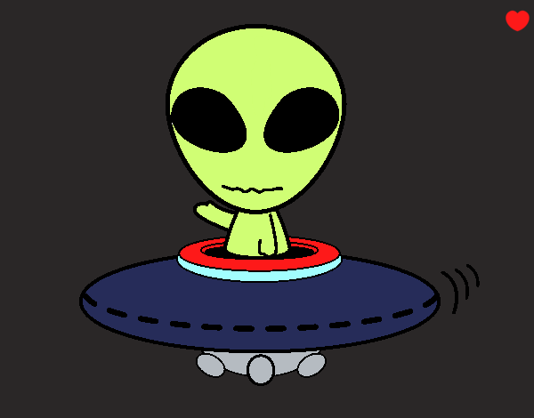 Dibujo Alienígena pintado por Michellinh