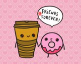 Dibujo Café y donut pintado por sheyla1