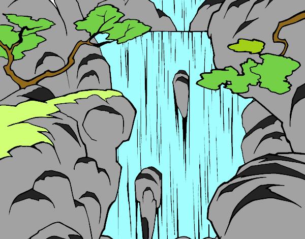 Dibujo De Cascada Pintado Por Sheyla1 En Dibujosnet El Día