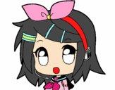 Dibujo Chibi RIN kagamine pintado por sheyla1