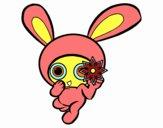 Dibujo Conejo ninja pintado por Ane1021