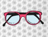 Dibujo Gafas de pasta redondas pintado por Michellinh