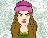 Dibujo Una chica moderna pintado por taradelaf
