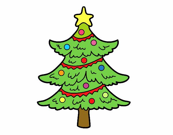 Dibujo Árbol de navidad decorado pintado por MariaMc