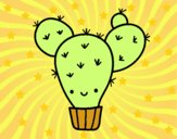 Dibujo Cactus nopal pintado por Ane1021