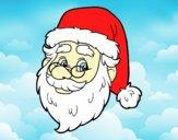 Dibujo Cara de Santa Claus pintado por MariaMc