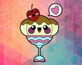 Dibujo Copa de helado kawaii pintado por taradelaf