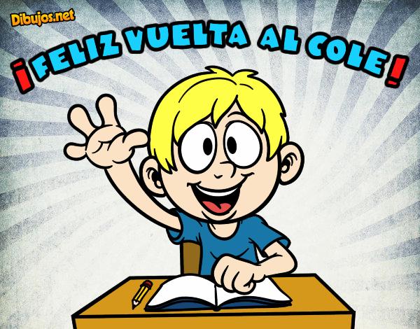 Colorear Vuelta Al Cole 15: Dibujo De Buelta Al Cole Pintado Por En Dibujos.net El Día