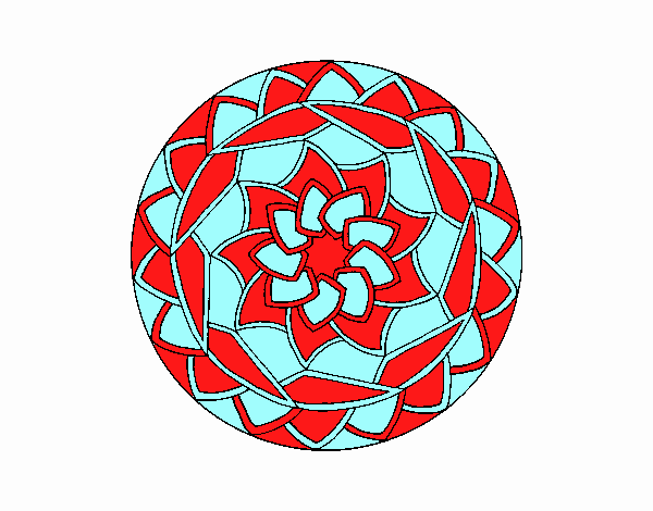Dibujo Mandala 1 pintado por emilili
