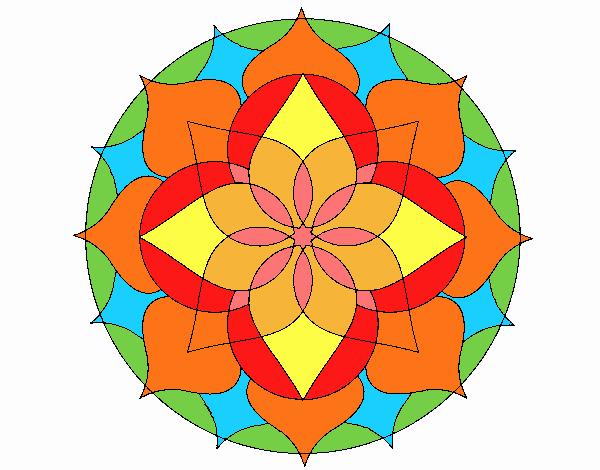 Dibujo Mandala 14 pintado por emilili