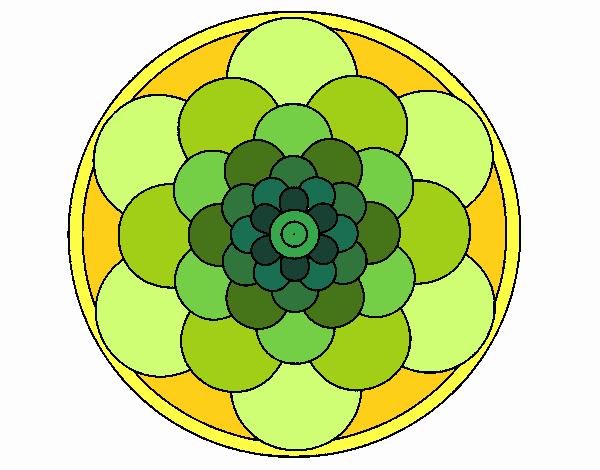Dibujo Mandala 22 pintado por emilili