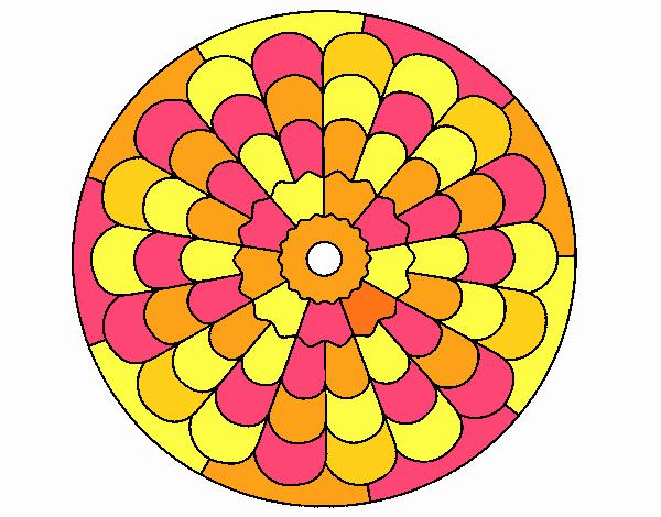 Dibujo Mandala 23 pintado por emilili