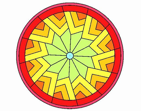 Dibujo Mandala 24 pintado por emilili