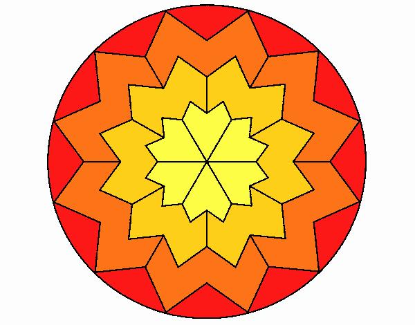 Dibujo Mandala 29 pintado por emilili