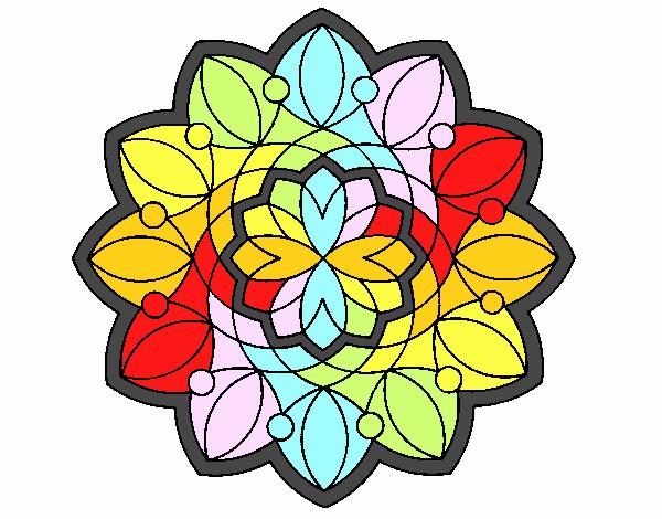 Dibujo Mandala 3 pintado por emilili