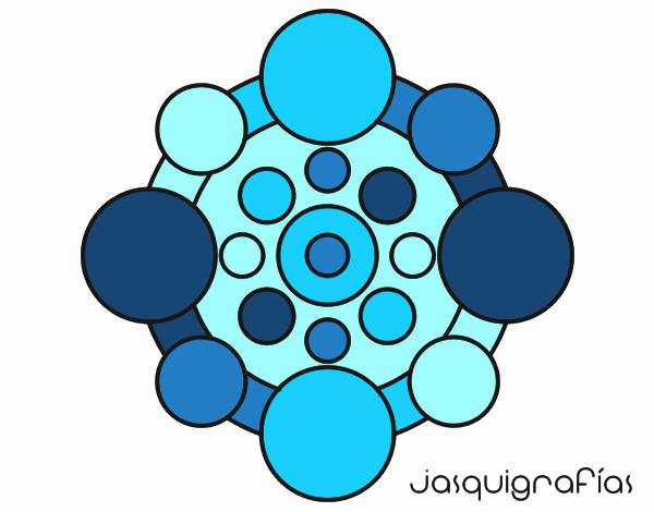 Dibujo Mandala con redondas pintado por emilili