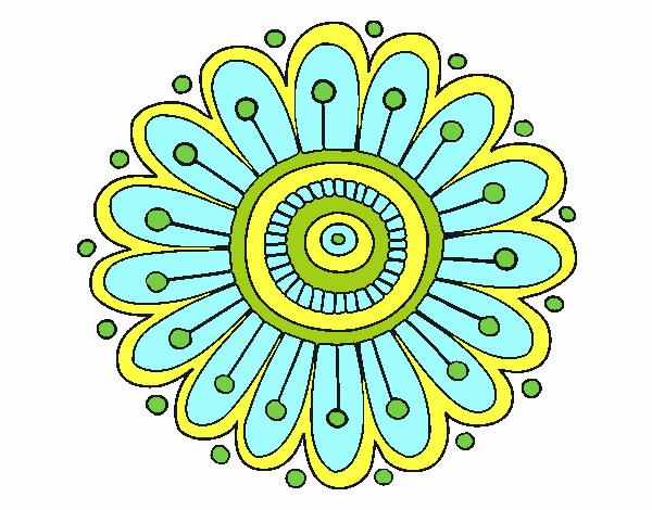 Dibujo Mandala margarita pintado por emilili