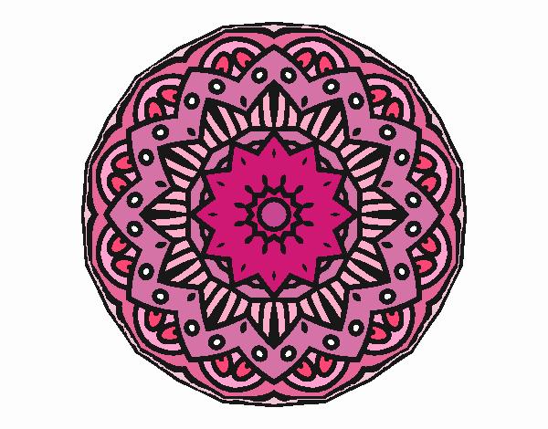 Dibujo Mandala modernista pintado por emilili