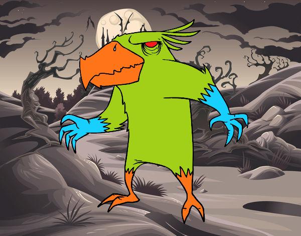 Monstruo pajarraco malvado