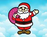 Dibujo Un Papá Noel pintado por MariaMc