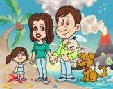 Dibujo Una familia unida pintado por vale26