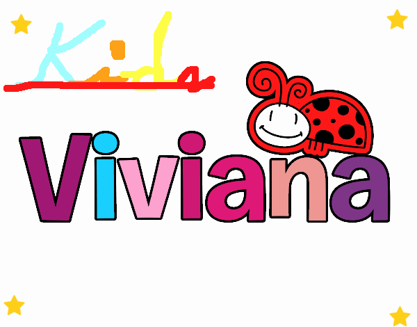Dibujo Viviana pintado por carrusel