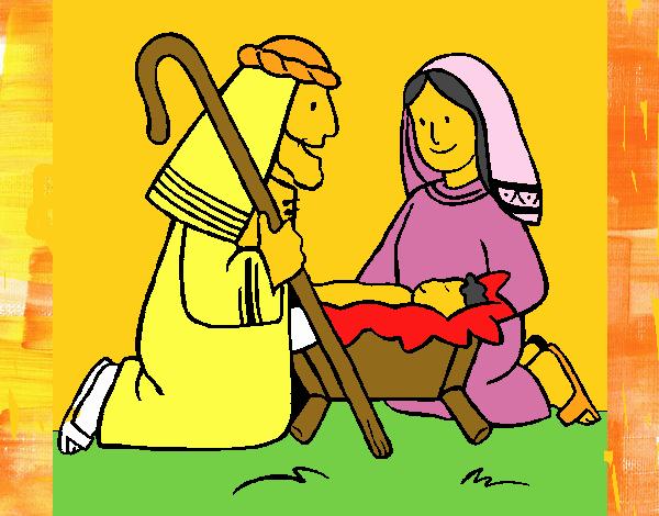 Adoran al niño Jesús