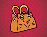 Dibujo Bolso cara de gato pintado por ibiza