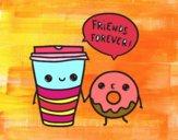 Dibujo Café y donut pintado por Ane1021