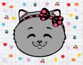 Dibujo Cara de gatita feliz pintado por CeceDrake