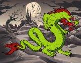 Dibujo Dragón caminando pintado por Ane1021