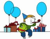Dibujo Fiesta de cumpleaños pintado por perla01