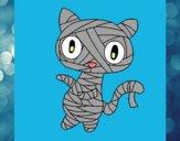 Dibujo Gato garabato momia pintado por Picasa