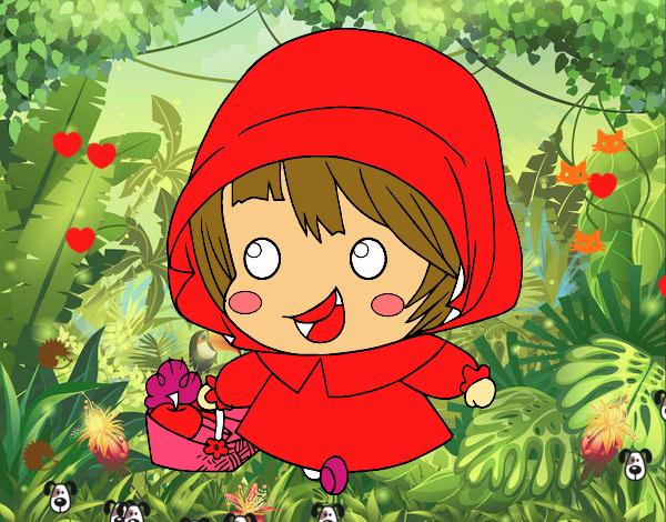 Dibujos De Caperucita Roja Para Colorear E Imprimir: Dibujo De La Caperucita Roja Pintado Por En Dibujos.net El