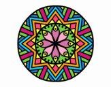 Dibujo Mandala flor de bambú pintado por bandin