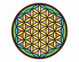 Dibujo Mandala flor de vida pintado por bandin