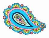 Dibujo Mandala lágrima pintado por bandin