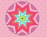 Dibujo Mandala mosaico estrella pintado por Ane1021