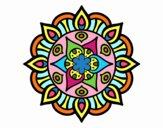 Dibujo Mandala vida vegetal pintado por bandin
