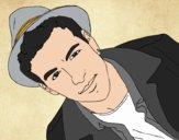 Dibujo Mario Casas con un sombrero pintado por betzabethN