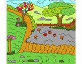 Dibujo Paisaje rural pintado por bandin