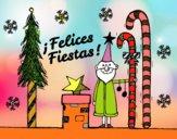 Dibujo Postal Felices Fiestas pintado por yorgelisan